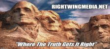 RightWingMedia.net logo with title in white superimposed over Mount Rushmore